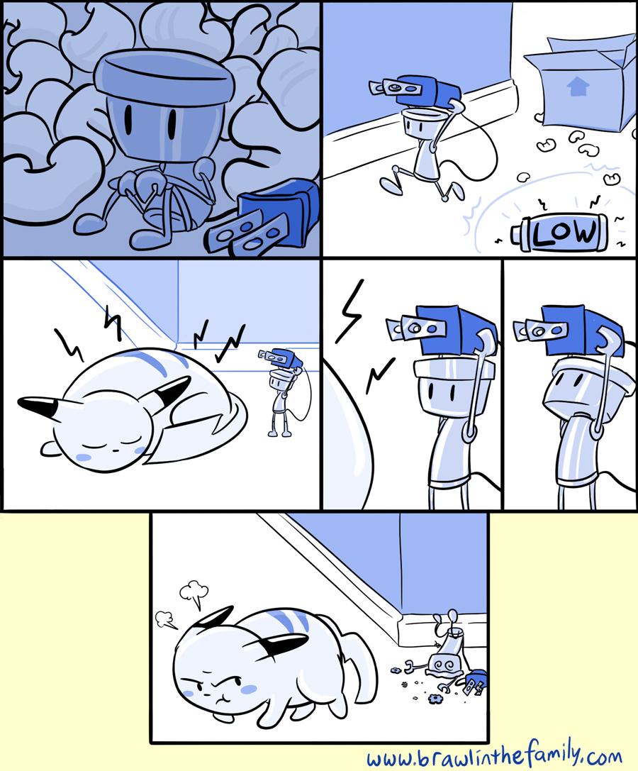 tira Chibi-Robo's  e pikachu