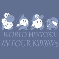 """""""World History in Four Kirbies"""" T-shirt"""